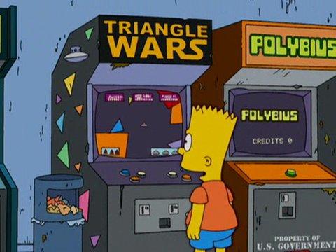 Los Simpsons y Polybius