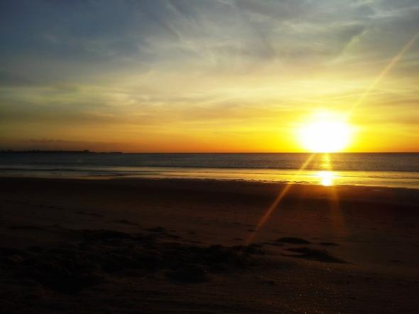 Playa de Vistahermosa (El Puerto de Santa María, Cádiz). Foto tomada con smartphone.